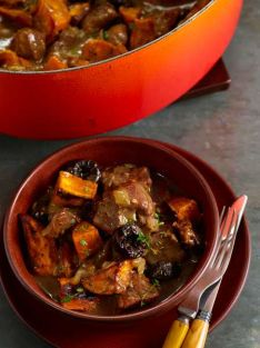 Pork Stew with Sweet Potatoes and Prunes Recipe