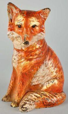 cast iron fox doorstop
