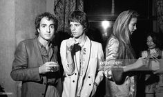 Lorne Michaels, Mick Jagger and Jerry Hall photographed by Ken Regan, October 7, 1978 in NYC.