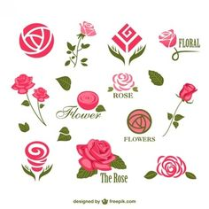 Ideas For Flowers Vector Abstract Logo Floral, Flower Logo, Flower Art, Peony Flower, Coperate Design, Rose Design, Business Icons, Icon Set, Rosas Vector