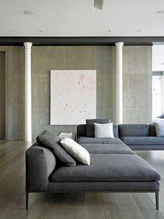 Sofá. Arquiteto: Axis Mundi Design. Fotógrafo: Mark Roskams.