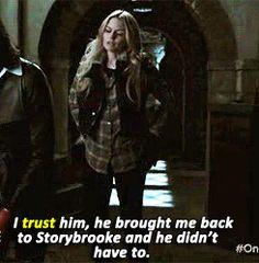2x06/3x17- She finally trusts him.