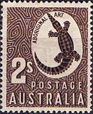 Australia Postage Stamp: Aboriginal Art c. part of the Zoological series depicts aboriginal rock carving of a crocodile Rare Stamps, Vintage Stamps, Kunst Der Aborigines, Postage Stamp Art, Indigenous Art, Aboriginal Art, Mail Art, Stamp Collecting, My Stamp
