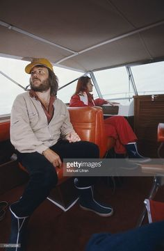 Anni-Frid Lyngstad (Frida called) and her husband Benny Andersson on board…