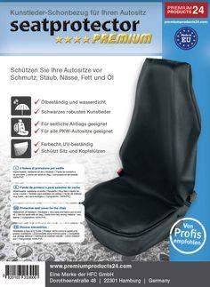 Der Premium Seatprotector - universell für alle Autotypen bedeckt der Schonbezug den gesamten Sitz incl. der Kopfstützen  - aus hochwertigem Kunstleder  - gut verstaubar, da er zusammengefaltet wenig Platz benötigt