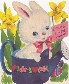 Linda coleção com mais de 50 imagens vintage de coelhinhos, ovos de páscoa, e muito mais para voc~e aproveitar. Basta clicar na imag...