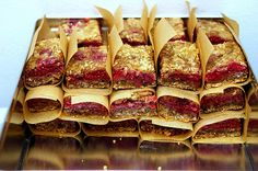 raspberry breakfast bars - these look and sound amazing!