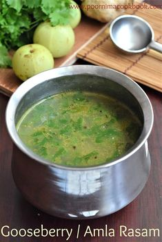This Vitamin C rich Rasam is easy to prepare and a healthy variation to the usual rasam. In this rasam recipe, there is no tomato and tam. Veg Recipes, Curry Recipes, Easy Healthy Recipes, Lunch Recipes, Baby Food Recipes, Indian Food Recipes, Crockpot Recipes, Vegetarian Recipes, Cooking Recipes