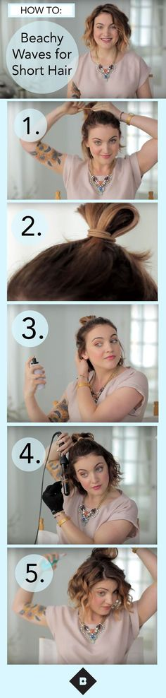 Beachy waves are our most-wanted summer style, even when we're nowhere near the surf. We enlisted Birchbox staffer Megan to show us how to get this chic tousled style for shorter hair using a clipless curling iron and two great Birchbox hair products. Watch the video to see how she adds volume and texture simply by changing the way she holds the curling iron—and this technique works on short, medium, and long hair!