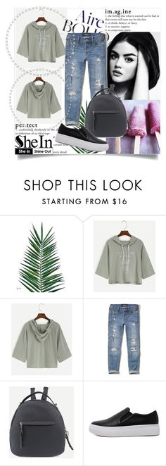 """SheIn"" by dina-97 ❤ liked on Polyvore featuring Nika, Hollister Co. and WithChic"