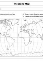 Grade 5 English: Social Sciences: Geography - Term 1 - World Map & Compass Directions - E-Classroom Social Science, Science And Technology, Continents And Oceans, Map Compass, Life Skills, Geography, Classroom, Education, Math