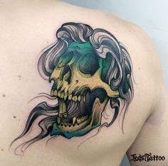 #tattoocaveira #ledstattoo
