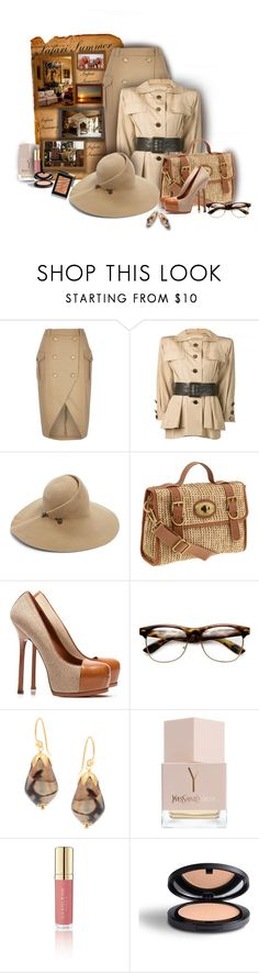 """""""Safari Summer - Contest!"""" by sarahguo ❤ liked on Polyvore featuring Yves Saint Laurent, Eugenia Kim, FOSSIL, Taylor, Ralph Lauren, Napoleon Perdis and FaceBase"""