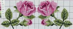 This Pin was discovered by MEL Small Cross Stitch, Cute Cross Stitch, Cross Stitch Borders, Cross Stitch Rose, Cross Stitch Flowers, Cross Stitch Charts, Cross Stitch Designs, Cross Stitching, Cross Stitch Embroidery