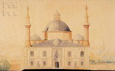 Bursa, Yeşil Cami (Green Mosque),  Front elevation