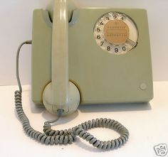 Rotary dial telephones and party lines? This one is from West Germany. FREE shipping in my eBay store.