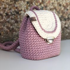 69 Ideas For Knitting Bag Design Crochet Wallet, Crochet Backpack, Crochet Gifts, Crochet Handbags, Crochet Purses, Crochet Towel, Knit Crochet, Free Crochet Bag, Knitting Accessories