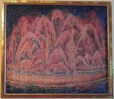 Купить Фиеста - розовый, Батик, батик картина, картина в подарок, картина для интерьера, шелк