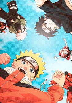 Naruto, Sakura, Sasuke, Kakashi and Pakkun :) have this poster in my room!