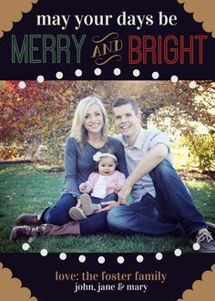 Custom Christmas Card  May Your Days be Merry and Bright by lettersbyashclaire, $12.00