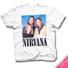 """Nirvana"" Tee (2014)    Available in sizes S to XXL Also available in tank tops.  http://goodkids.ca/products/2014-nirvana"