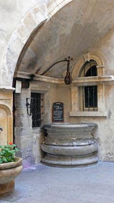 Courtyard, Lyon, France