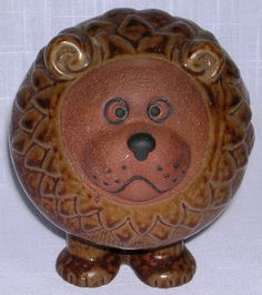 Art Pottery Ceramic Stoneware Contemporary Brown Lion MIJ Toscany Africa Animal  #Toscany #Contemporary