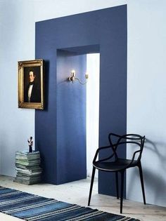 Clever Paint Tricks That Totally Make a Room Clevere Farbtricks, die einen Raum total machen Wohnung Therapie My Living Room, Living Spaces, Home And Deco, Interiores Design, Colorful Interiors, Modern Interiors, Interior Inspiration, Design Inspiration, Interior Ideas