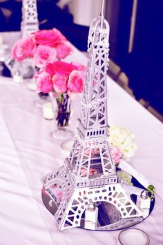 wooden eiffel tower centerpiece statue replica french Paris wedding any color $24.99