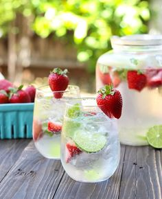 Strawberry basil lime cooler