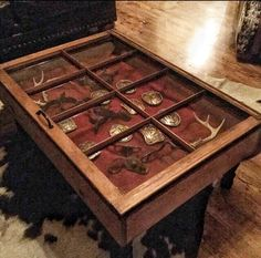 A personal favorite from my Etsy shop https://www.etsy.com/listing/485005603/rustic-coffee-table-shadow-box-coffee