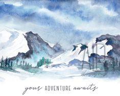 Your Adventure Awaits, 10x8 or 7x5 Fine Art Print - 5 x 7
