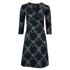 Tante Betsy jurk Lemonade Flower Branch Navy - Lillefant