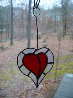 stained glass HEART by OriginalGlassWork on Etsy