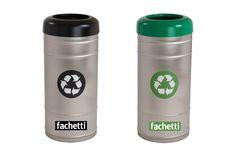 Tacho Acero inox Reciclaje  www.fachetti.com.ar