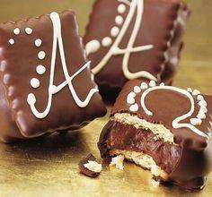 Παστάκια με μπισκότα Πτι Μπερ και σοκολάτα