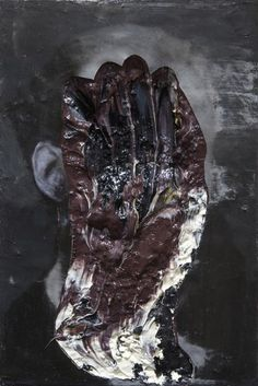 nicola samorì: il pietrificatore. oil on wood, 31 x 21 cm, 2013.