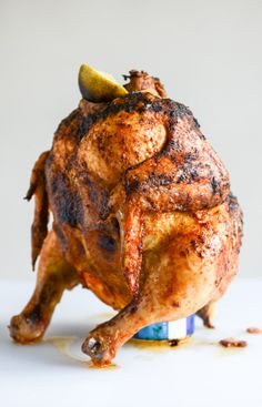 """SPICY BEER CAN CHICKEN ~~~ she calls this recipe her """"favorite"""" [howsweeteats]"""