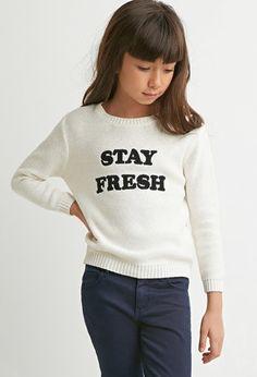 Girls Stay Fresh Sweater (Kids) | Forever 21 girls - 2000146296
