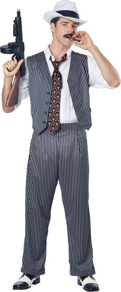 Adult Mobster Costume - Party City