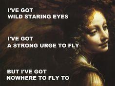 pinkfloydart:  Nobody Home - Pink Floyd / The Virgin Of The Rocks (Detail) - Leonardo Da Vinci