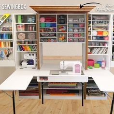 Introducing The Ultimate SewingBox in Premium Knotty Alder! Now you can match it with The WorkBox!! ✨ Pre-order today