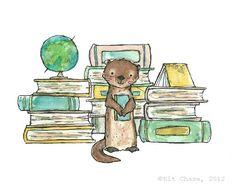 Otter livresqueArchiv par Kit Chase par trafalgarssquare sur Etsy