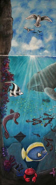 Creation Mural - Day 5 (3x1m) by Australian artist Selinah Bull {children's art} http://www.selinahbull.com