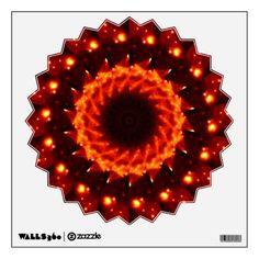 Bronze Nebula #Kaleidoscope #Mandala Wall Decal