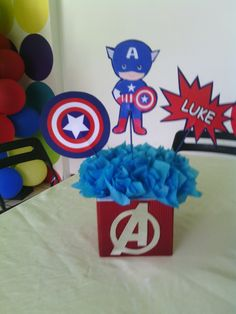 Captain America Party, Captain America Birthday, Superhero Academy, Superhero Party, 2nd Birthday, Birthday Parties, Avengers Birthday, Ideas Para Fiestas, Holidays And Events