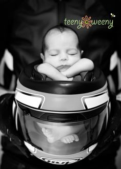 This is a must do for grandpa on fathers day. Motorcycle enthusiasts. - newborn photo shoot