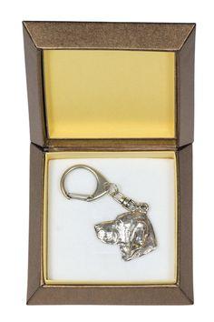 NEW Vizsla dog keyring key holder in casket by ArtDogshopcenter