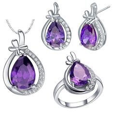 Find More Jewelry Sets Information about Purple Wedding Accessories Jewelry Simulated Diamond Sets for Woman Natural Stone Bijouterie Decoration Women Jeweries T460,High Quality set underwear,China set shower Suppliers, Cheap set multiplication from D&C Fashion Jewelry Buy to Get a Free Gift on Aliexpress.com