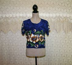 Women Hawaiian Shirt Short Sleeve Blouse Rayon Summer Top